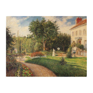 Garden of Les Mathurins at Pontoise by Pissarro Wood Canvas
