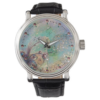 GARDEN OF LOST SHADOWS,MAGIC BUTTERFLY PLANT Blue Wristwatch