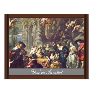 Garden Of Love By Rubens Peter Paul (Best Quality) Personalized Invites