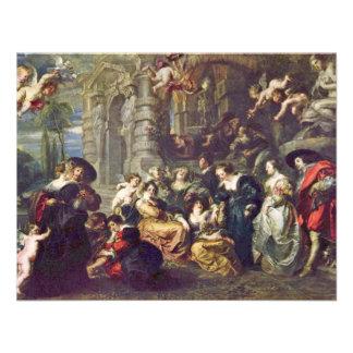 Garden Of Love By Rubens Peter Paul (Best Quality) Custom Invitations
