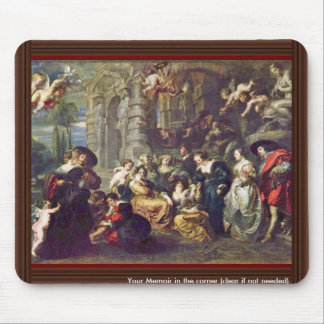 Garden Of Love By Rubens Peter Paul (Best Quality) Mouse Pad