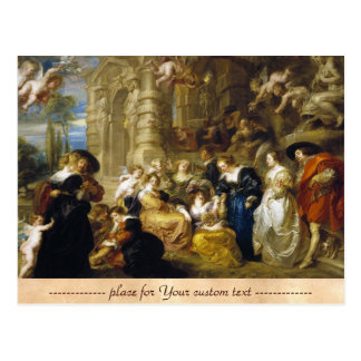 Garden of Love Peter Paul Rubens  masterpiece Postcard
