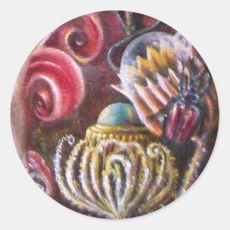 GARDEN OF MELISSA .detail Classic Round Sticker