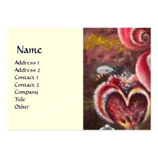 GARDEN OF MELISSA HONEY BEE cream Business Card Template