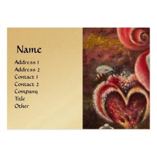 GARDEN OF MELISSA HONEY BEE gold Large Business Card