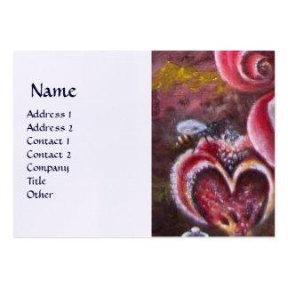GARDEN OF MELISSA HONEY BEE linen Large Business Card
