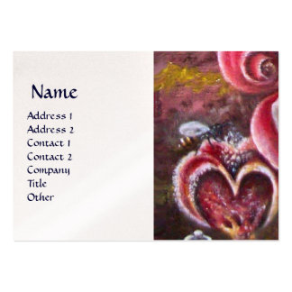 GARDEN OF MELISSA HONEY BEE pearl Large Business Card