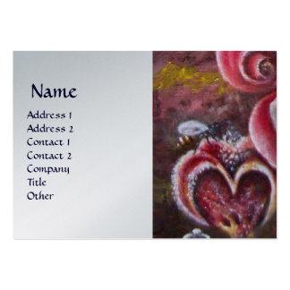 GARDEN OF MELISSA HONEY BEE platinum Large Business Card