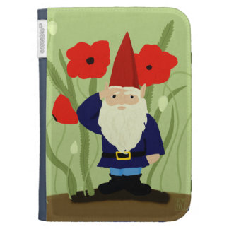 Garden of Remembrance Gnome Kindle Case