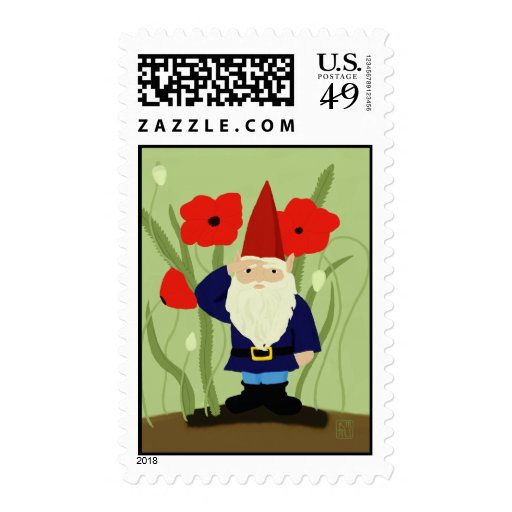 Garden of Remembrance Gnome Postage Stamps