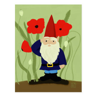 Garden of Remembrance Gnome Postcard