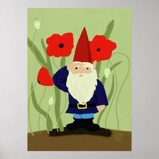 Garden of Remembrance Gnome Print