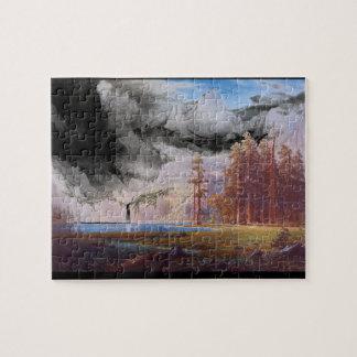 Garden of Rockies', Albert Bierstadt_Landscapes Jigsaw Puzzle