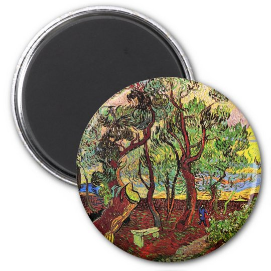 Garden of Saint-Paul Hospital Van Gogh Fine Art Magnet