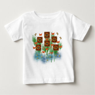 Garden Of Spiral Squares Baby T-Shirt