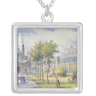 Garden of St. Thomas's Hospital Silver Plated Necklace