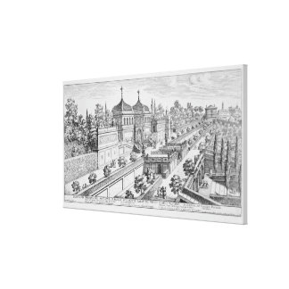 Garden of the Duke of Parma on the Palatine Hill, Canvas Print