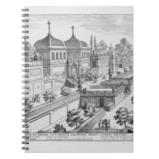 Garden of the Duke of Parma on the Palatine Hill, Notebook