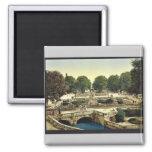 Garden of the Fountains, Nimes, France vintage Pho Fridge Magnet