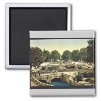 Garden of the Fountains, Nimes, France vintage Pho 2 Inch Square Magnet