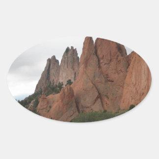Garden of the Gods, Colorado Oval Sticker