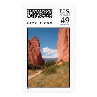 Garden of  The Gods Colorado Postage Stamps