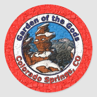 Garden of the Gods, Colorado Springs, CO Classic Round Sticker