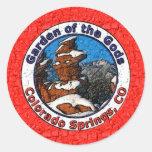Garden of the Gods, Colorado Springs, CO Classic Round Sticker