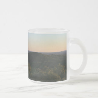 Garden of the Gods Frosted Glass Coffee Mug