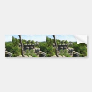 Garden Of The Gods-Southern Illinois. Stereographi Bumper Sticker