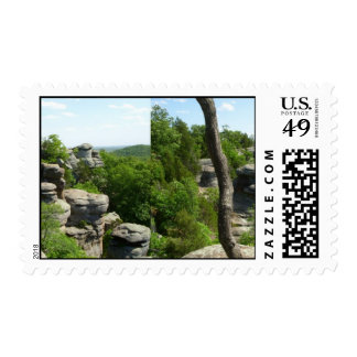 Garden Of The Gods-Southern Illinois. Stereographi Stamp