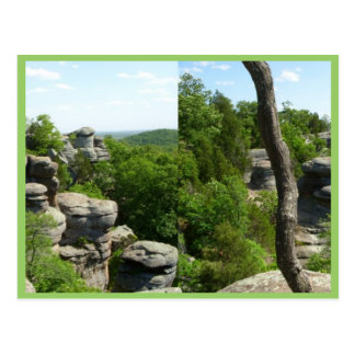 Garden Of The Gods-Southern Illinois. Stereographi Postcard