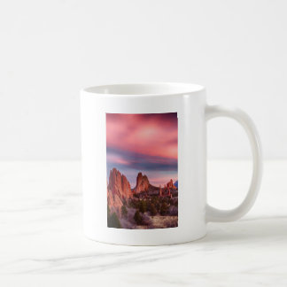 Garden of the Gods Sunset Sky Portrait Coffee Mug