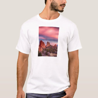 Garden of the Gods Sunset Sky Portrait T-Shirt