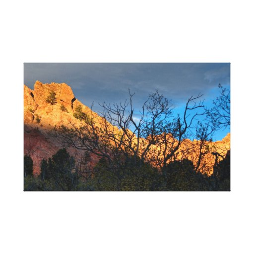 Garden of the Gods Sunset Stretched Canvas Prints