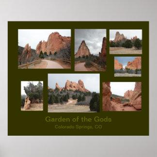 Garden of the Gods Travel Poster