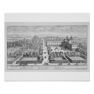 Garden of the Grand Duke of Tuscany on the Monte P Poster