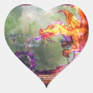 Garden of the Hesperides Heart Sticker