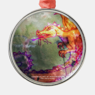 Garden of the Hesperides Round Metal Christmas Ornament