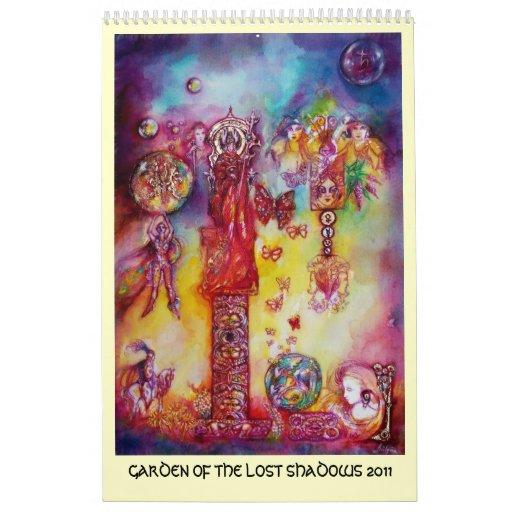 GARDEN OF THE LOST SHADOWS,2011 FAERY& BUTTERFLIES WALL CALENDARS