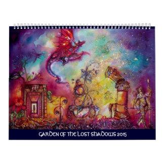 GARDEN OF THE LOST SHADOWS -2015 FLYING RED DRAGON CALENDAR