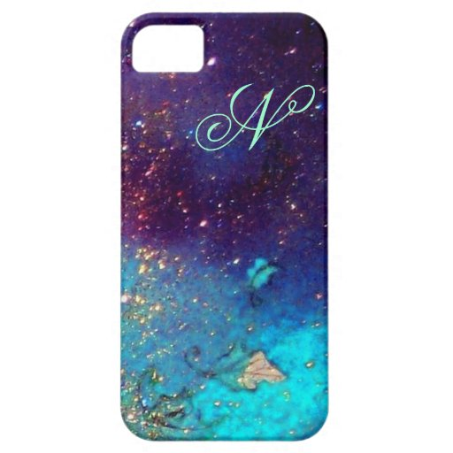 GARDEN OF THE LOST SHADOWS -Blue Turquase Monogram iPhone 5 Case