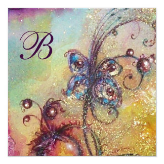 GARDEN OF THE LOST SHADOWS -BUTTERFLY Monogram Card