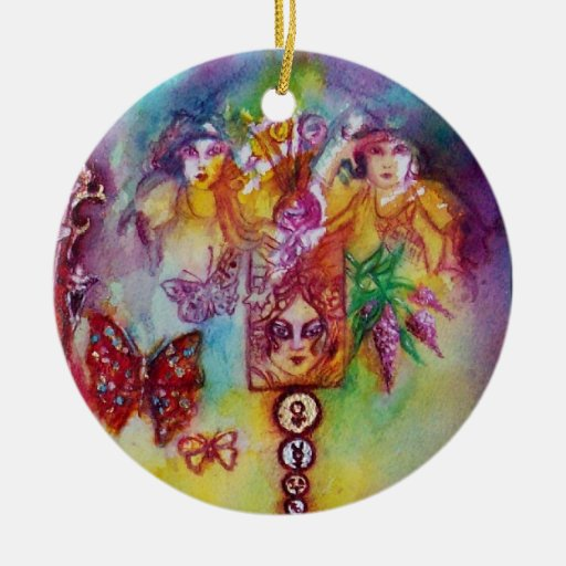 GARDEN OF THE LOST SHADOWS- BUTTERFLY PLANT Heart Ornament