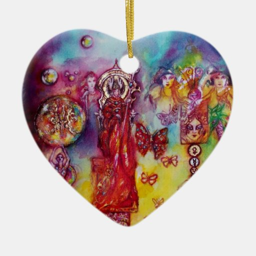 GARDEN OF THE LOST SHADOWS- BUTTERFLY PLANT Heart Christmas Tree Ornaments