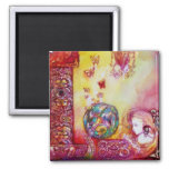 GARDEN OF THE LOST SHADOWS -FAERY AND BUTTERFLIES 2 INCH SQUARE MAGNET