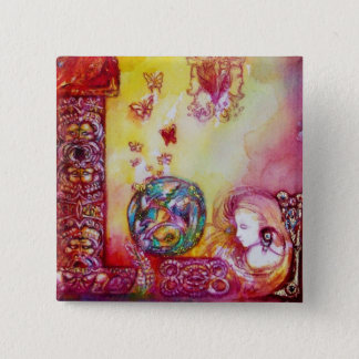 GARDEN OF THE LOST SHADOWS -FAERY AND BUTTERFLIES BUTTON