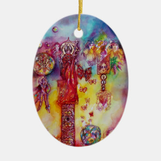 GARDEN OF THE LOST SHADOWS, FAERY AND BUTTERFLIES CERAMIC ORNAMENT