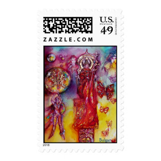 GARDEN OF THE LOST SHADOWS ,FAERY AND BUTTERFLIES POSTAGE STAMPS