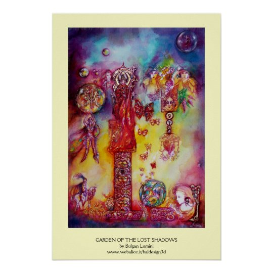 GARDEN OF THE LOST SHADOWS ,FAERY AND BUTTERFLIES POSTER